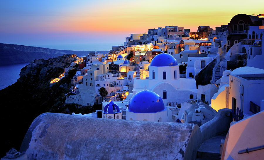 Greece Photograph - Santorini Island, Greece by Martin Froyda