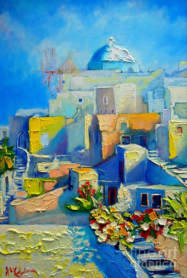 Santorini Painting - Santorini Light by Ana Maria Edulescu