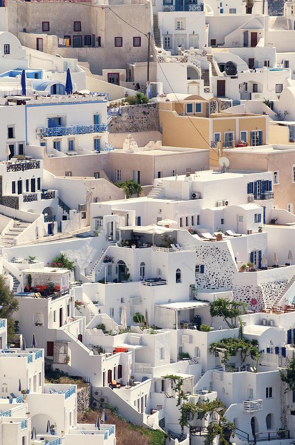 Santorini Oia Village Close Up Vertical Photograph by Peskymonkey