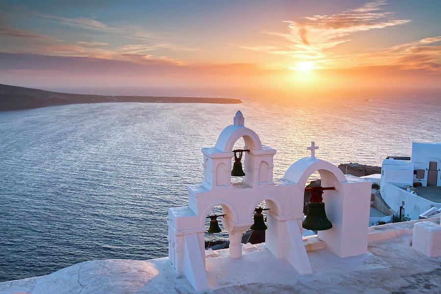 Santorini Sunset Photograph by Evgeni Dinev Photography