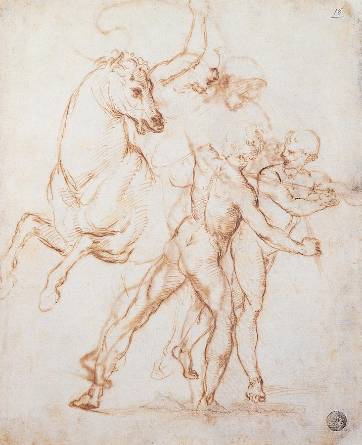Sketch Photograph - Sanzio Raffaello, A Warrior Riding by Everett