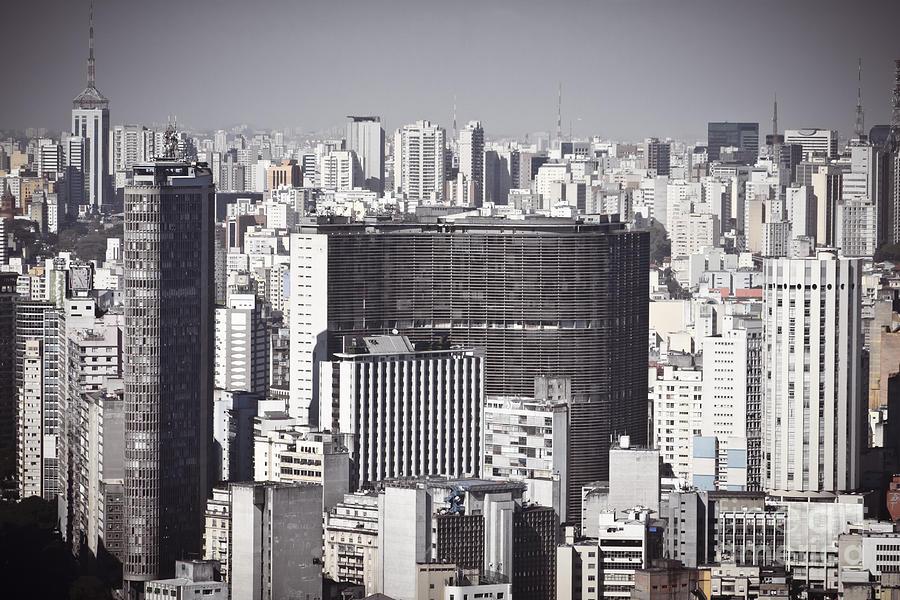 Brasil Photograph - Sao Paulo - Aerial View by Ricardo Lisboa
