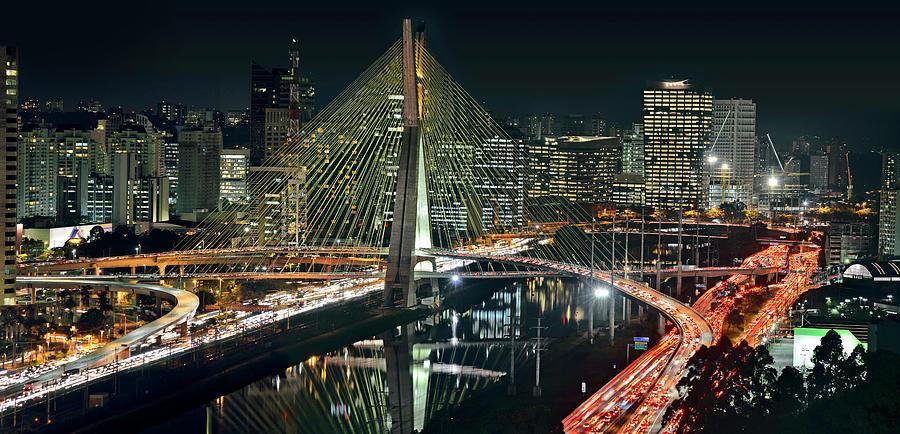 Sao Paulo - Ponte Estaiada  Sao Paulo Photograph by Carlos Alkmin