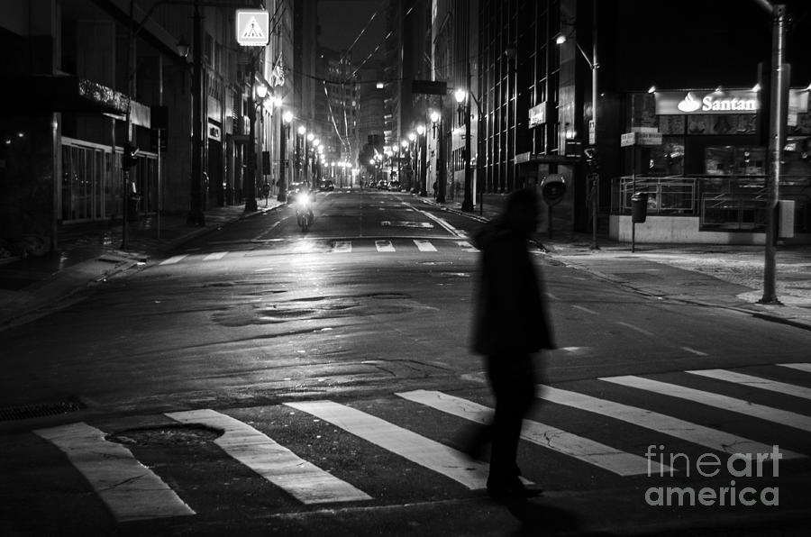 Faa Photograph - Sao Paulo Street At Night by Ricardo Lisboa