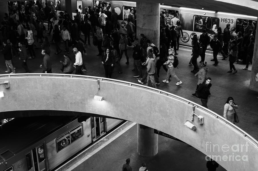 Faa Photograph - Sao Paulo Subway by Ricardo Lisboa