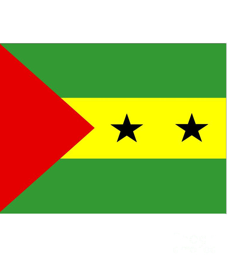Sao Tome Digital Art - Sao Tome And Principe Flag by Frederick Holiday