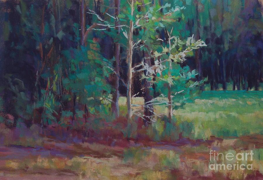 Landscape Painting - Saplings by Virginia Dauth