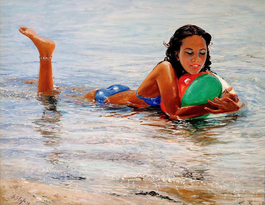 Summer Painting - Sapore Di Mare by Sefedin Stafa
