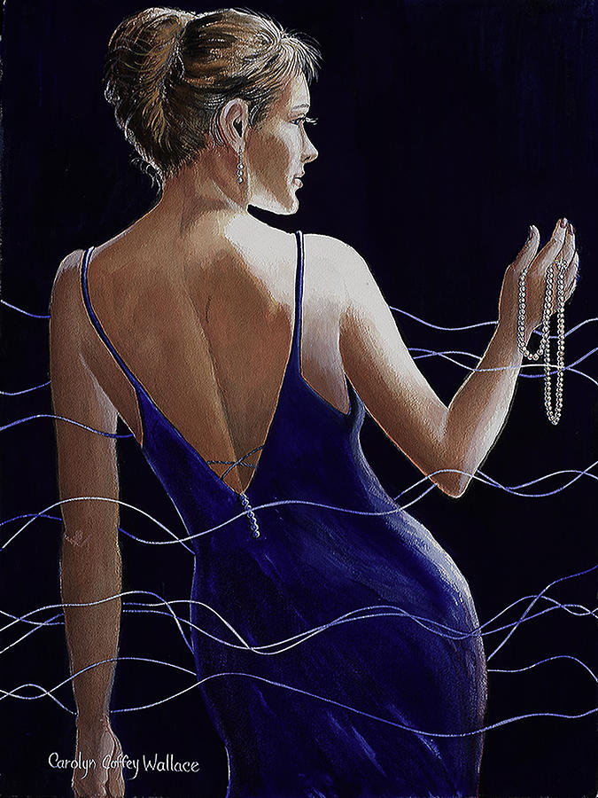 Sapphire Pearls and a Smile by Carolyn Coffey Wallace