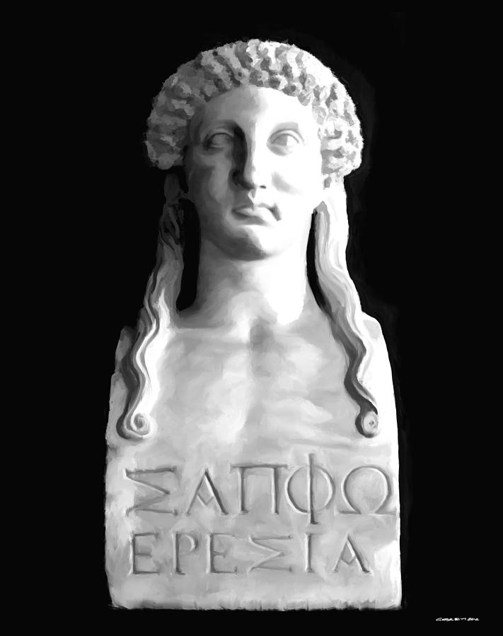 Sappho Digital Art - Sappho by Gabriel T Toro