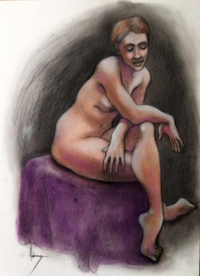 Nude Pastel - Sara bemused by Jack Edson Adams