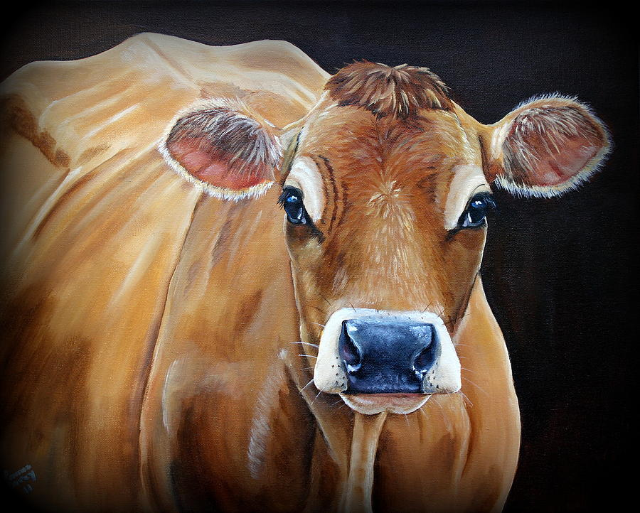 Jersey Painting - Sara Beth by Laura Carey