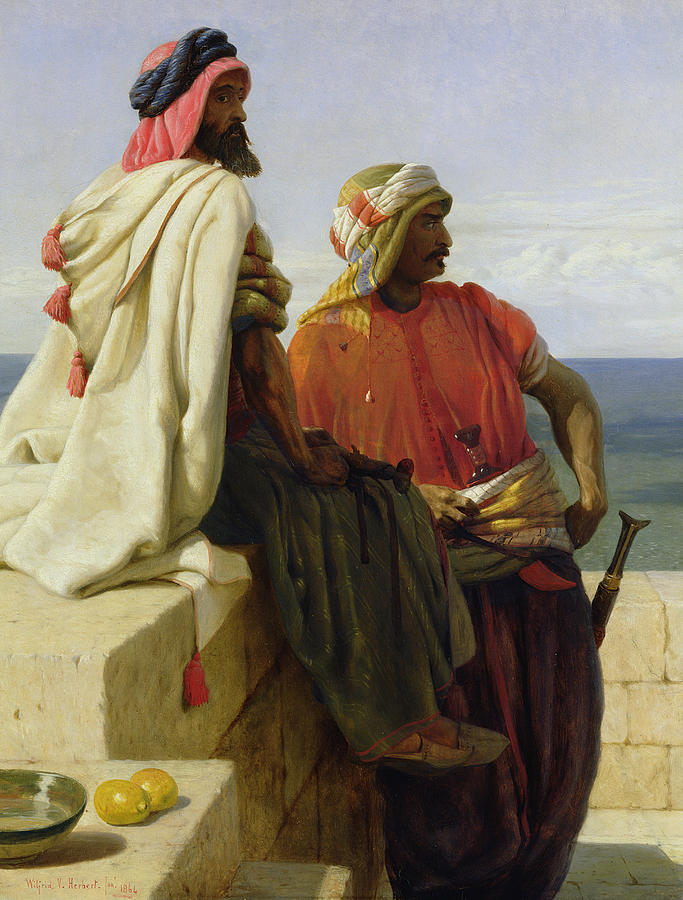Arabian Painting - Saracens In Front Of Their Position by Wilfred Vincent Herbert