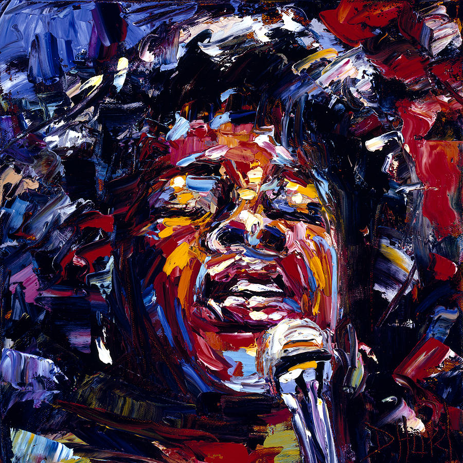 Sarah Vaughan Painting - Sarah Vaughan Jazz Face Series by Debra Hurd