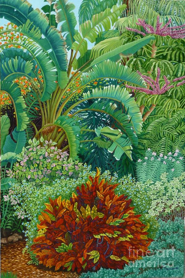 Garden Painting - Sarasota Garden by Beverly Theriault