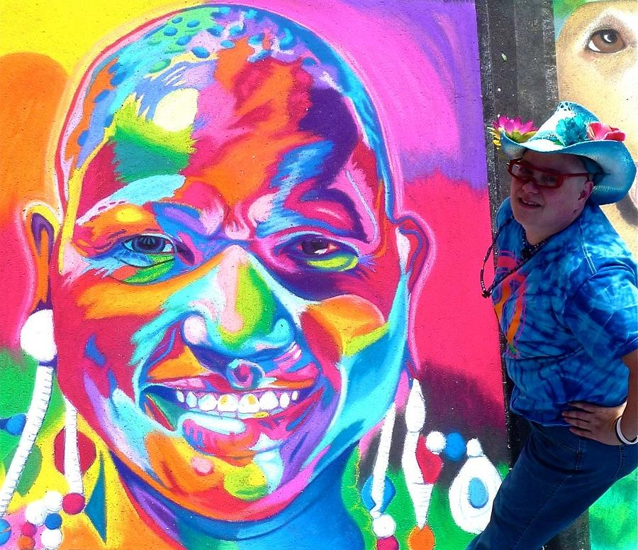 Sarasota Drawing - Sarasotas Colorful Face by Mythica Von Griffyn