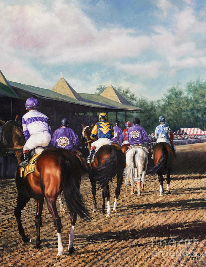 Derby Painting - Saratoga Post Parade by Thomas Allen Pauly