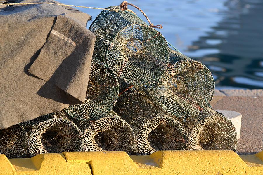 Crab Photograph - Sardinian Crab Traps by Bill Mock
