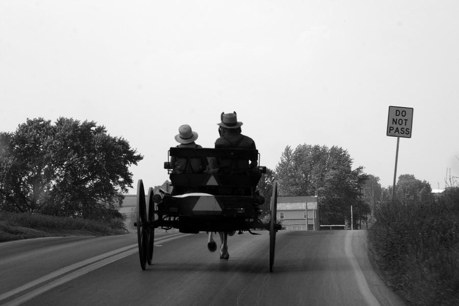 Amish Photograph - Sarturday Errand by Claudia Croneberger