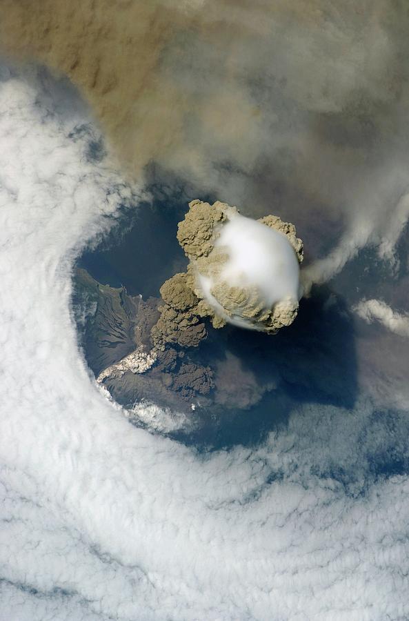 Sarychev Volcano Photograph - Sarychev Volcano by Nasa/science Photo Library