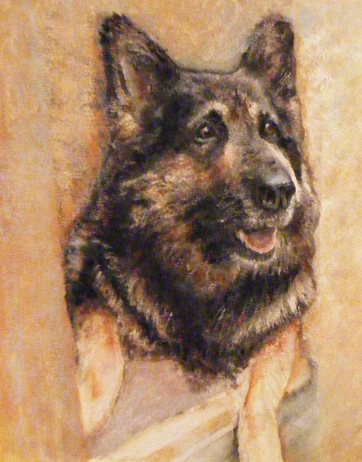 Sasha German Shepherd Painting