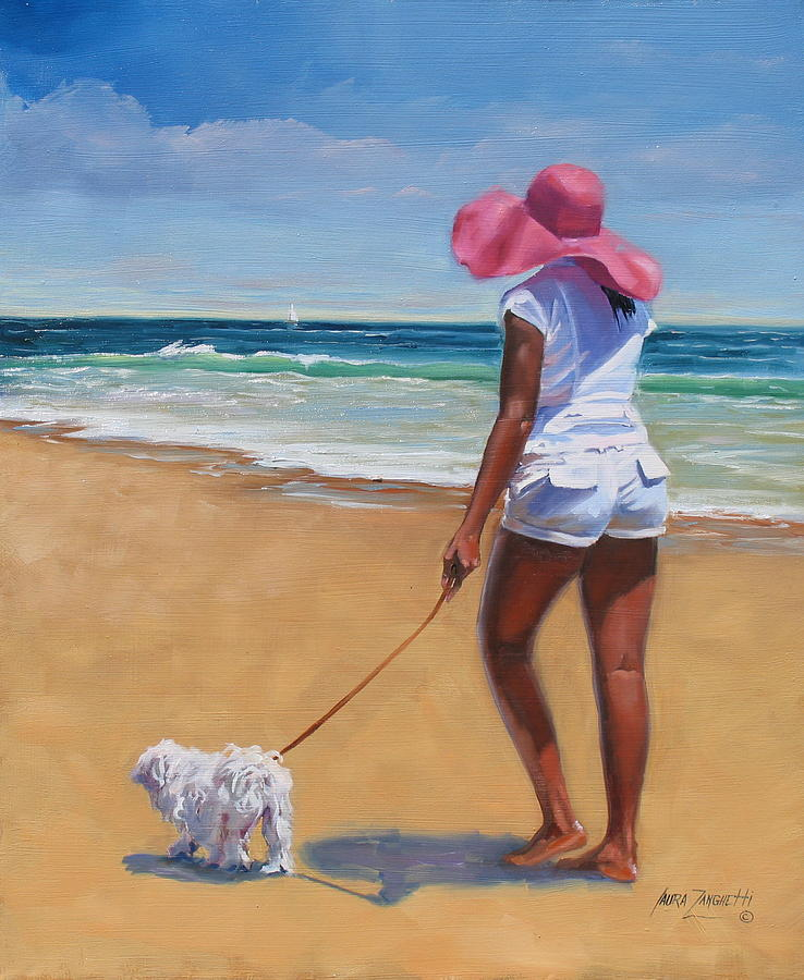 Seascape Painting - Sassy by Laura Lee Zanghetti