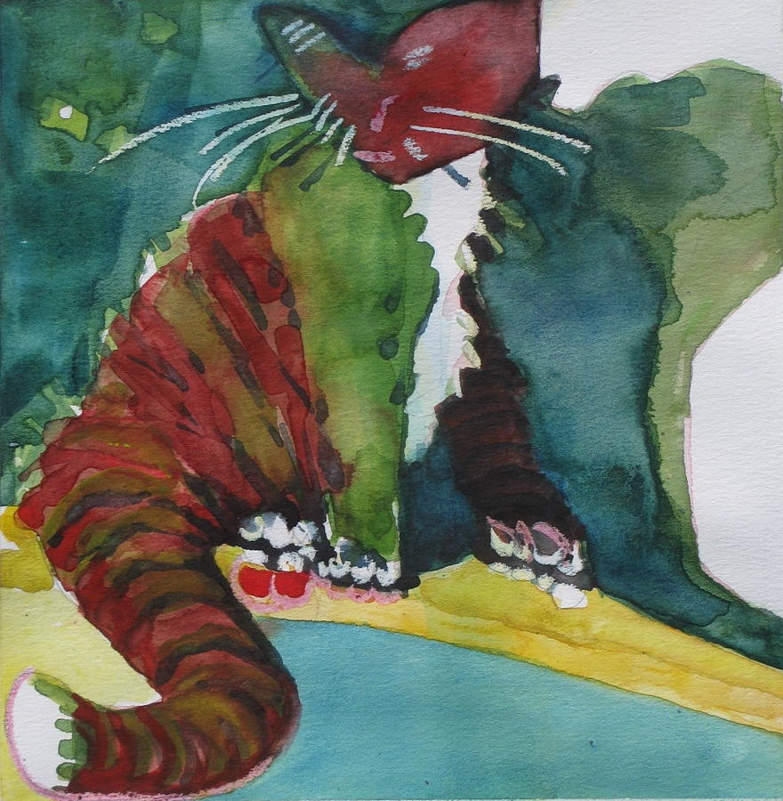 Cat Mixed Media - Sassy Lizzie by Chere Force