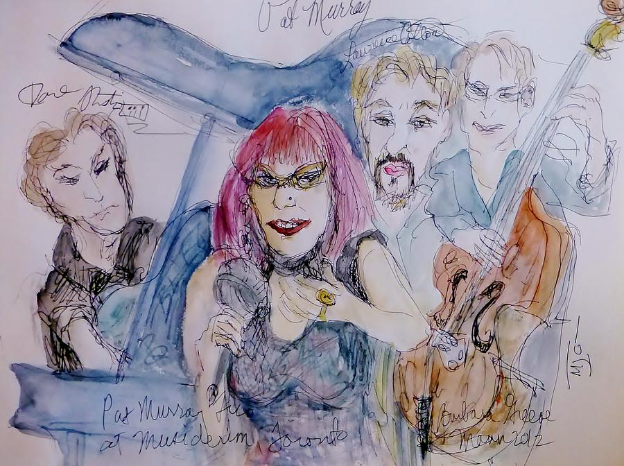Musicians Painting - Sassy Pat Murray by Barb Greene mann