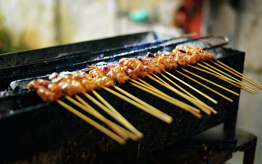 Satay - Malaysian Tastes On A Stick Photograph by Cheryl Chan