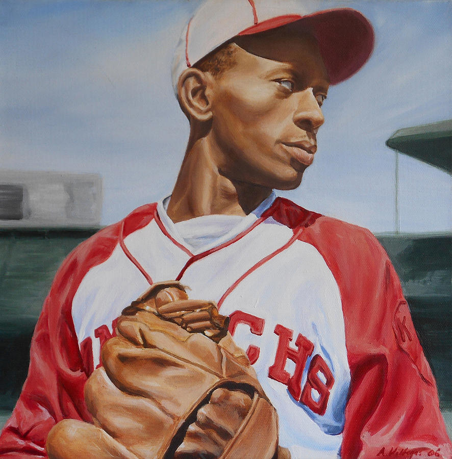 Satchel Paige Painting By Angie Villegas