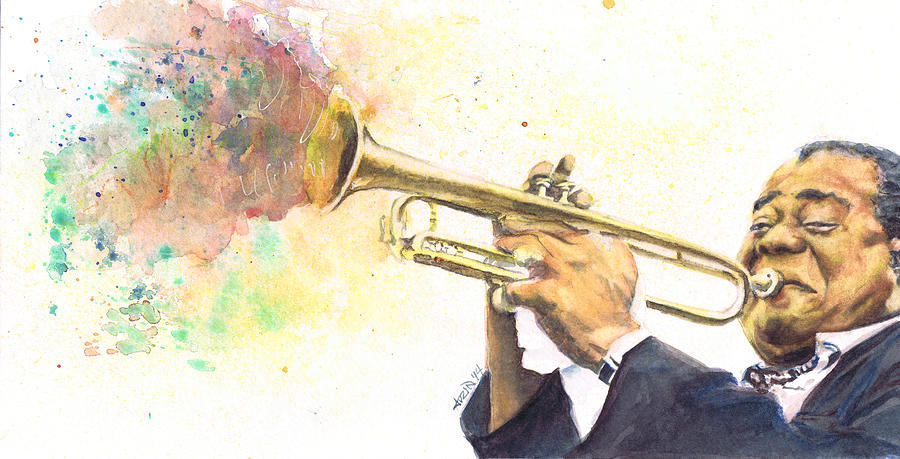 Satchmo Painting - Satchmo by Adrienne Norris