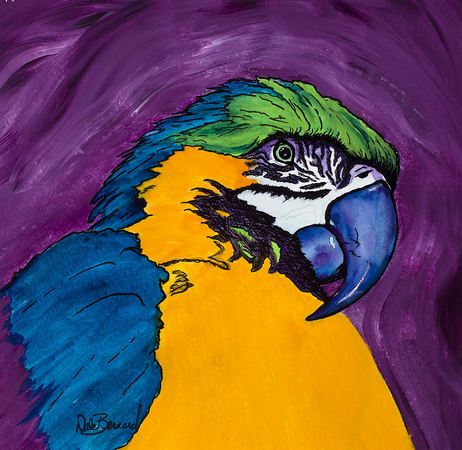 Macaw Painting - Satchmo by Dale Bernard