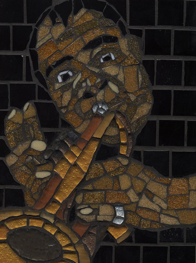 Mosaic Painting - Satchmo by Gila Rayberg