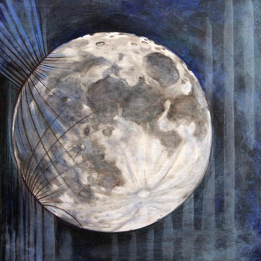 Moon Painting - Satellite  by Stacey Sherman
