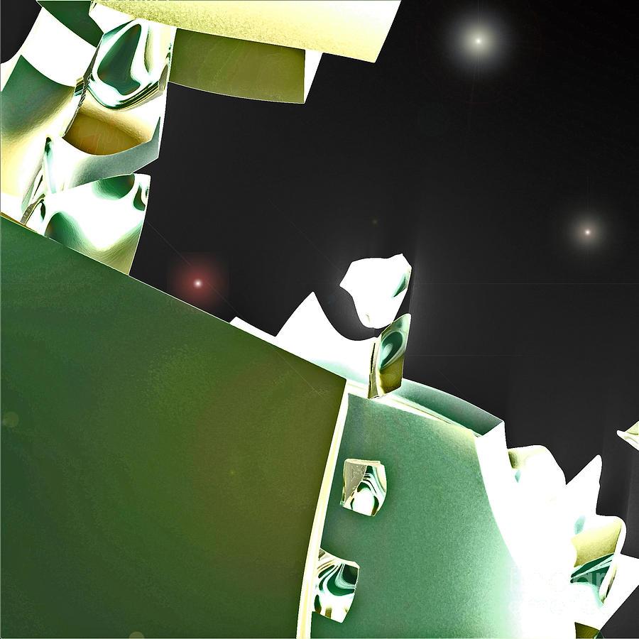 First Star Digital Art - Satellite View by First Star Art