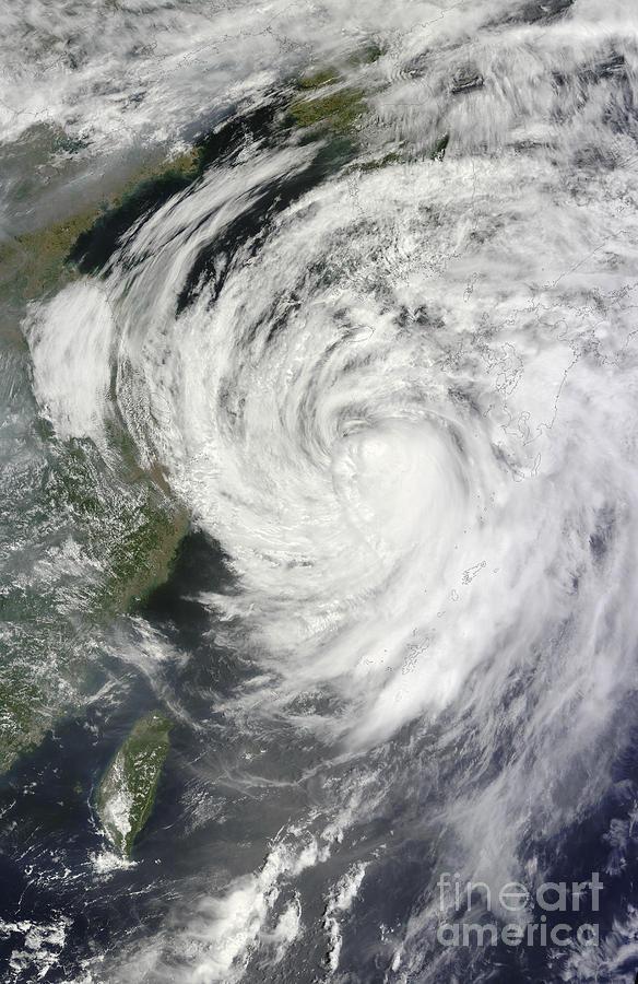 Satellite View Of Typhoon Neoguri Photograph