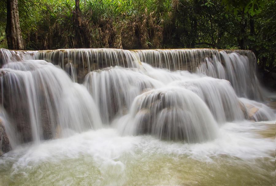 Waterfalls Photograph - Satin Falls by Kim Andelkovic