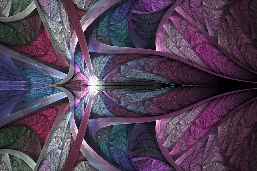 Fractal Digital Art - Satin Flame by Anne Pearson