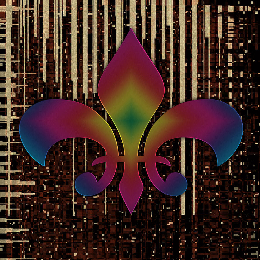 Fleur-de-lis Painting - Satin Lily Symbol Digital Painting by Georgeta Blanaru