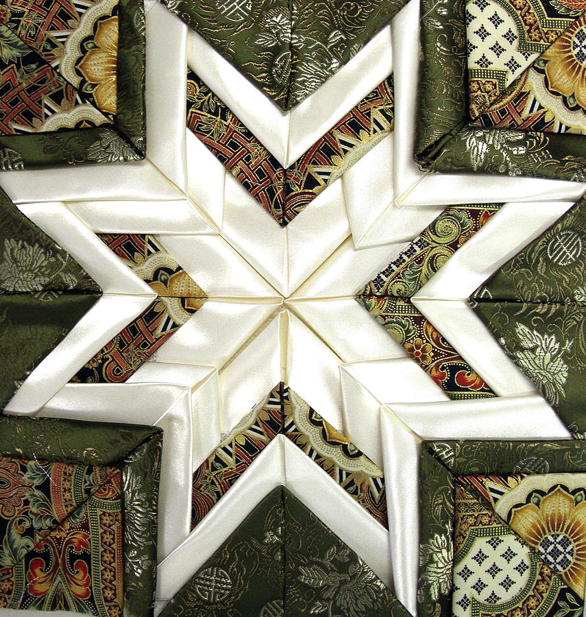 Satin Star Quilted Wall Decoration Photograph - Satin Star by Frederic Kohli