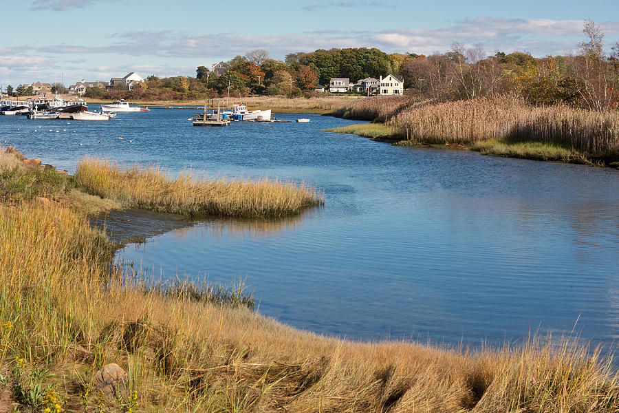 Harbors Photograph - Satuit Brook Scituate Mass by Gail Maloney