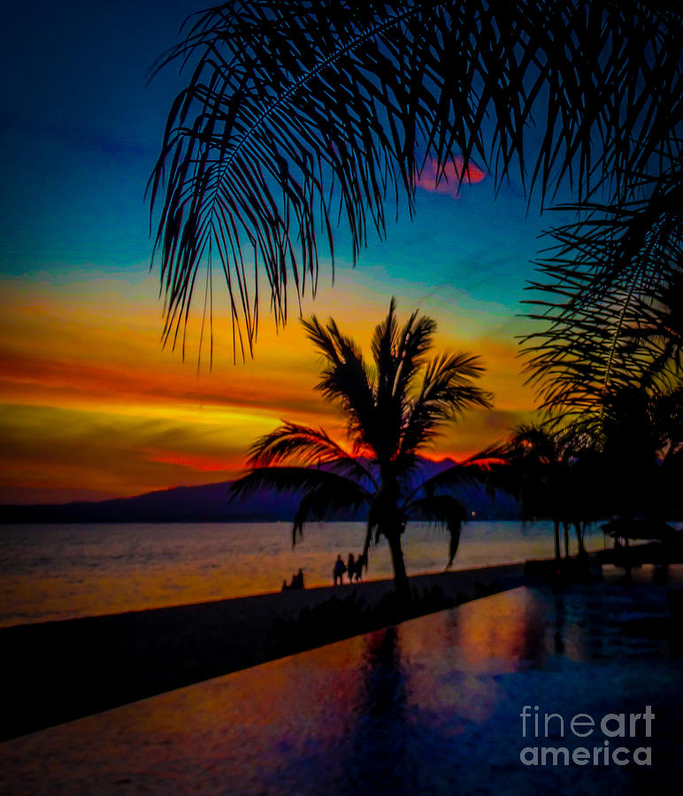 Nayarit Photograph - Saturated Mexican Sunset by Charlene Gauld
