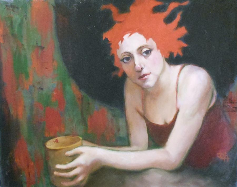 Woman Painting - Saturday Am by Deborah Allison