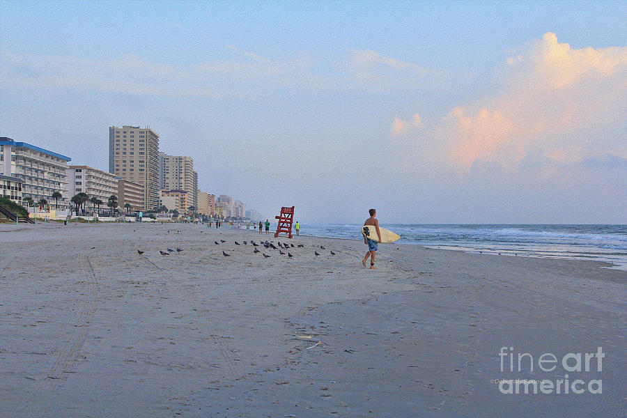 Beach Photograph - Saturday Morning Surfer by Deborah Benoit
