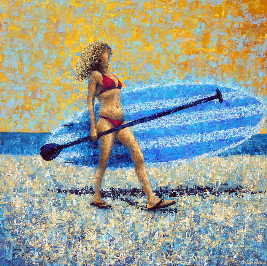Ocean Painting - Saturday by Ned Shuchter