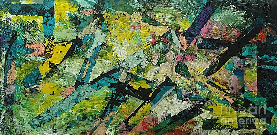 Landscape Painting - Saturday Night by Allan P Friedlander