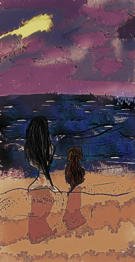 Seaside Digital Art - Saturday Seaside by Galen Valle
