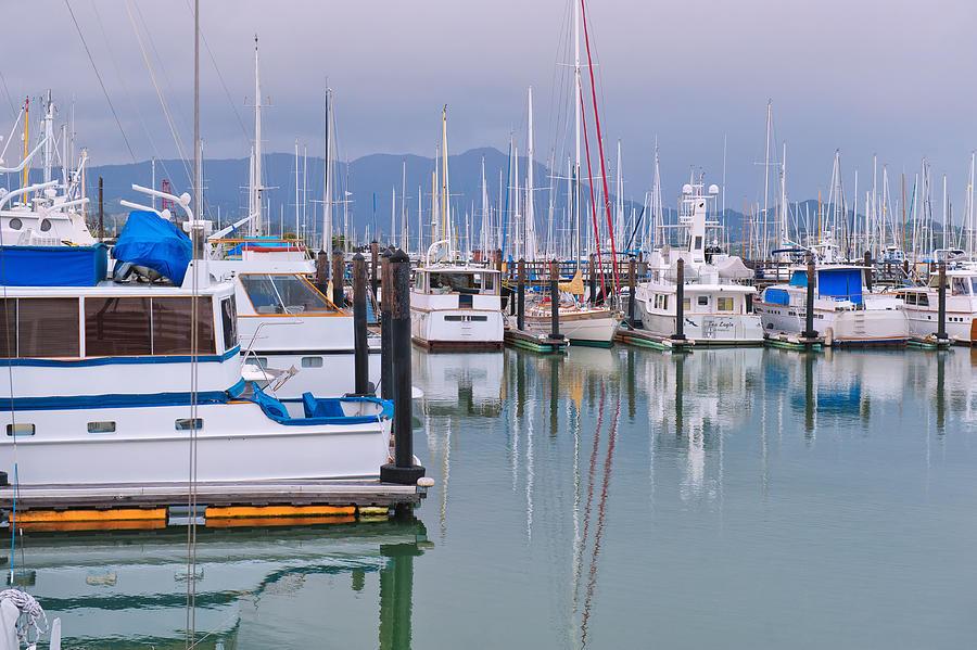 Sausalito Photograph - Sausalito Harbor California by Marianne Campolongo