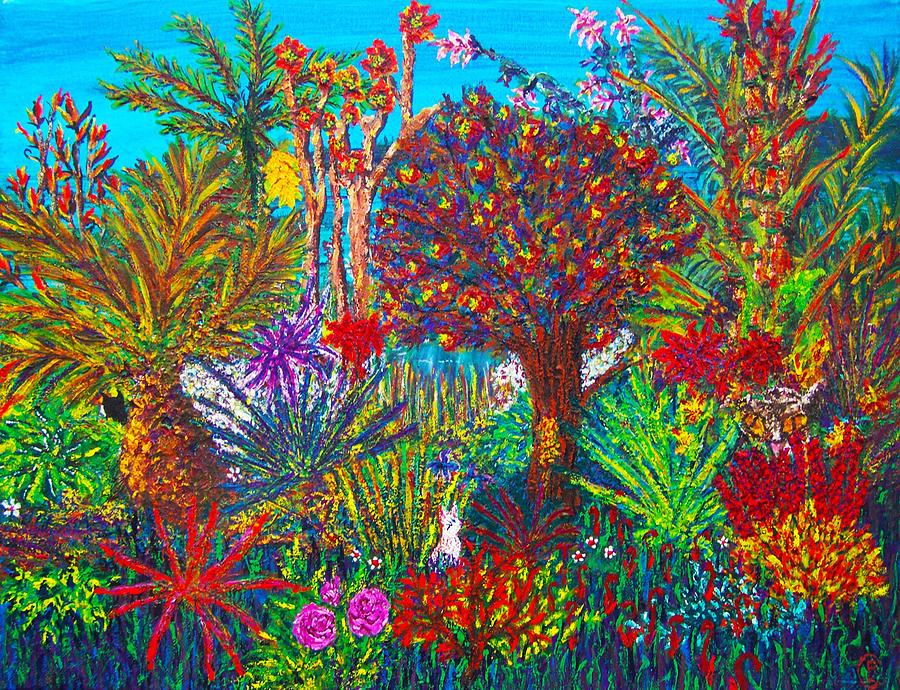 Landscape Painting - Savage Garden by Peri Craig