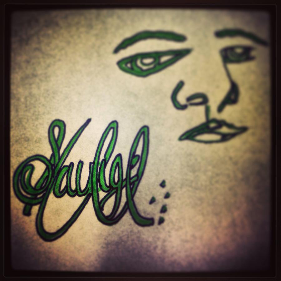 Face Drawing - Savage by Sean Vierra